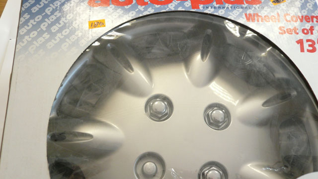 Tyreline Argon  Silver 13 inch Metal wheel covers
