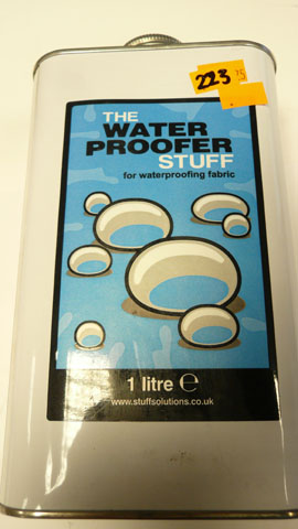 Water proofer  for fabric ,tent,Awnings etc