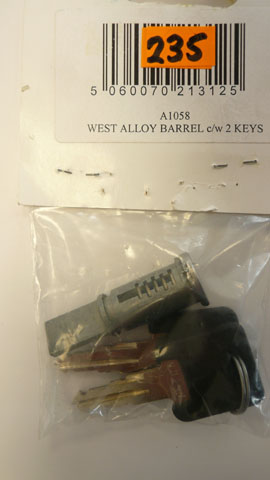 West alloy Barrel c/w 2 keys