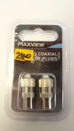 Maxiview TV/FM Two  Coaxial alloy plugs