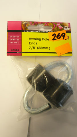 Awning pole ends