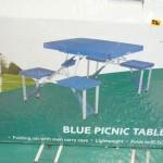 Blue picnic table set (Folds flat)