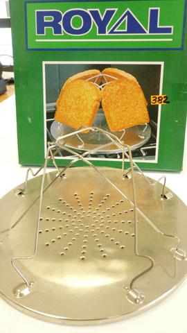 Caravan or camping folding toaster