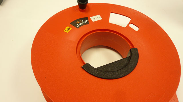 Cable extension storage wheel
