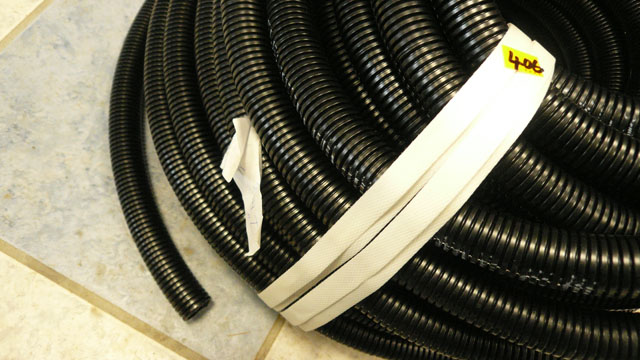 1inch outside convoluted waste hose