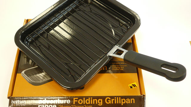 Folding grill pan none stick