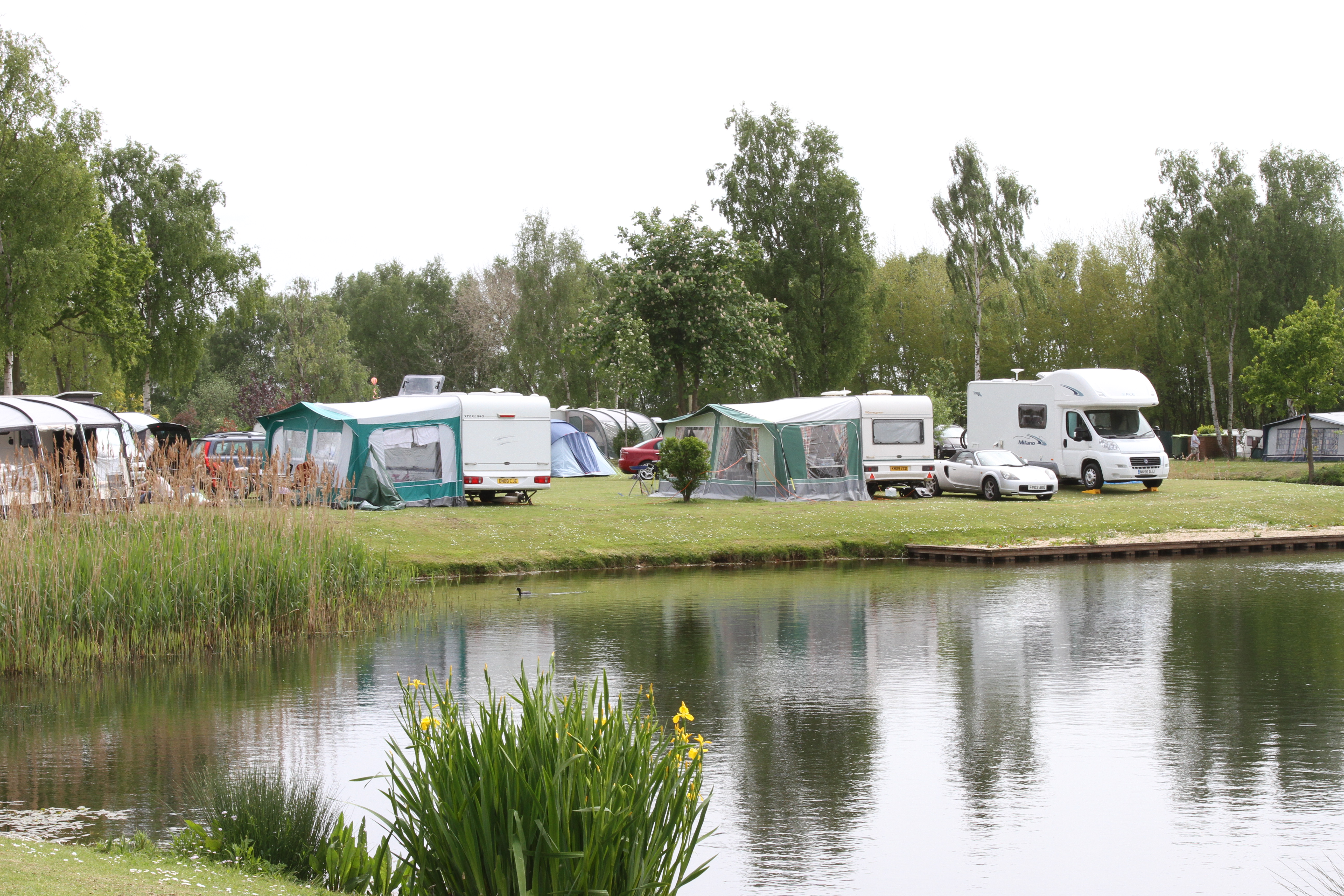 Caravans and lake