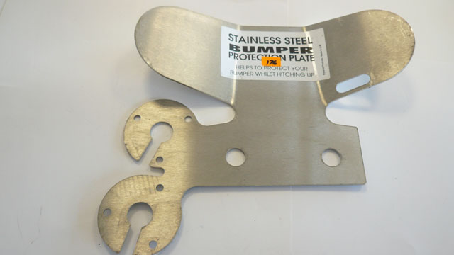 Large stainless steel bumper protector
