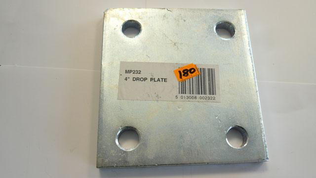 4 Inch drop plate