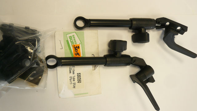 Tube stay 135mm in pack with fittings