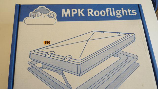 Roof light for caravan