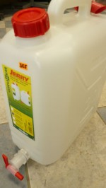 20 Litre plastic water container with tap